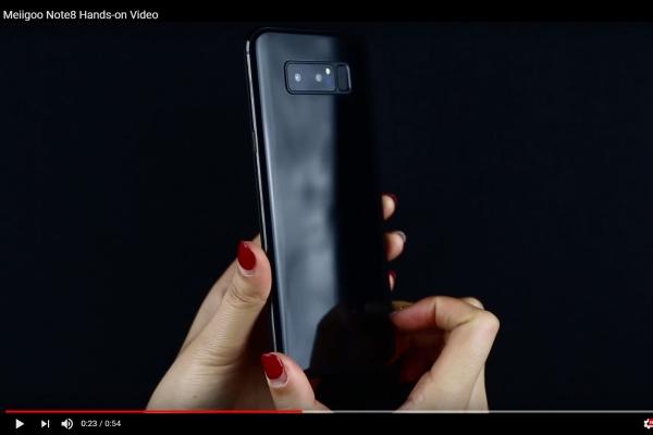 Meiigoo Note 8 могут снабдить биометрическим сенсором как вiPhone X