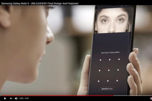 Samsung Galaxy Note 9 сможет узнать владельца по дыханию